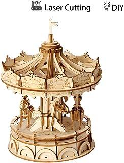 Rolife Puzzle 3D Puzzles Madera DIY Bloques de Construcción Modelo de Juguete (Tiovivo)