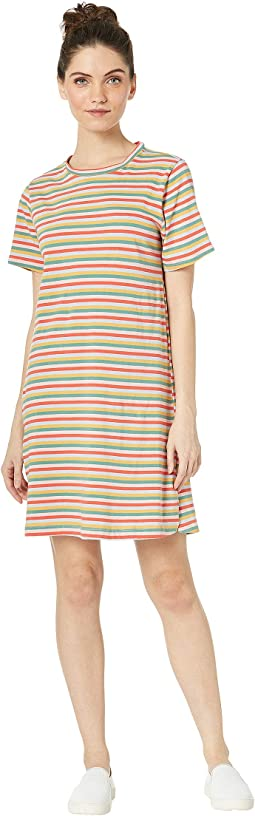 Mini Vintage Stripe T-Shirt Dress
