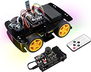 Freenove 4WD Car Kit with RF Remote (Compatible with Arduino IDE), Line Tracking, Obstacle Avoidance, Ultrasonic Sensor, B...