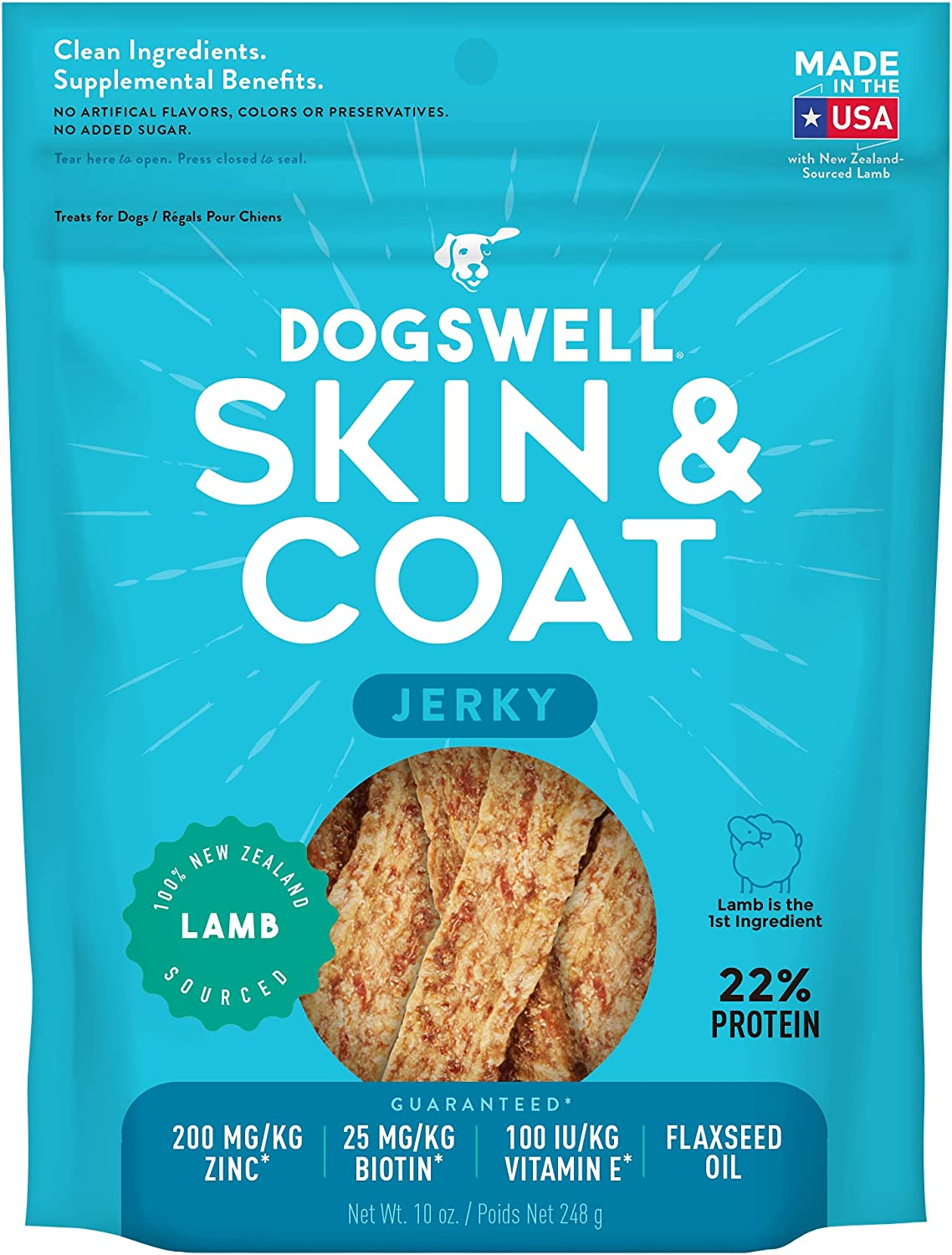 Dogswell 100% Meat Jerky Dog Treats in Seasonal Wrap Introduction Bioti Made At the price of surprise USA with
