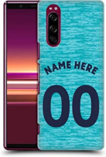 Custom Customized Personalized Newcastle United FC NUFC Third Kit 2018/19 Crest Hard Back Case Compatible for Sony Xperia 5