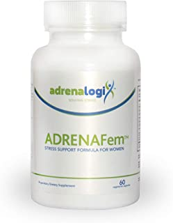 AdrenaFem Daily Stress Relief Formula for Women, Supports Adrenal Health, Balances Cortisol & Female Hormones, with Ashwag...