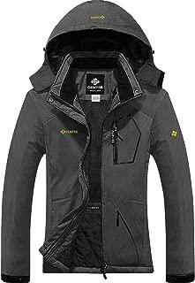 Women's Winter Windproof Jacket Waterproof Thicken Coats with Removable Hood