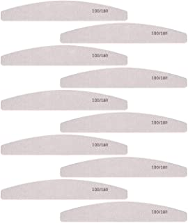 Nail Files and Buffer, Professional Manicure Tools Kit 100 180 Grit Double Sided Washable 10 Nail File Set (100/180)