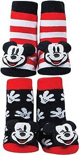 Disney Mickey Mouse Rattle Socks Set - Cotton Blend - One Size Fits Infants