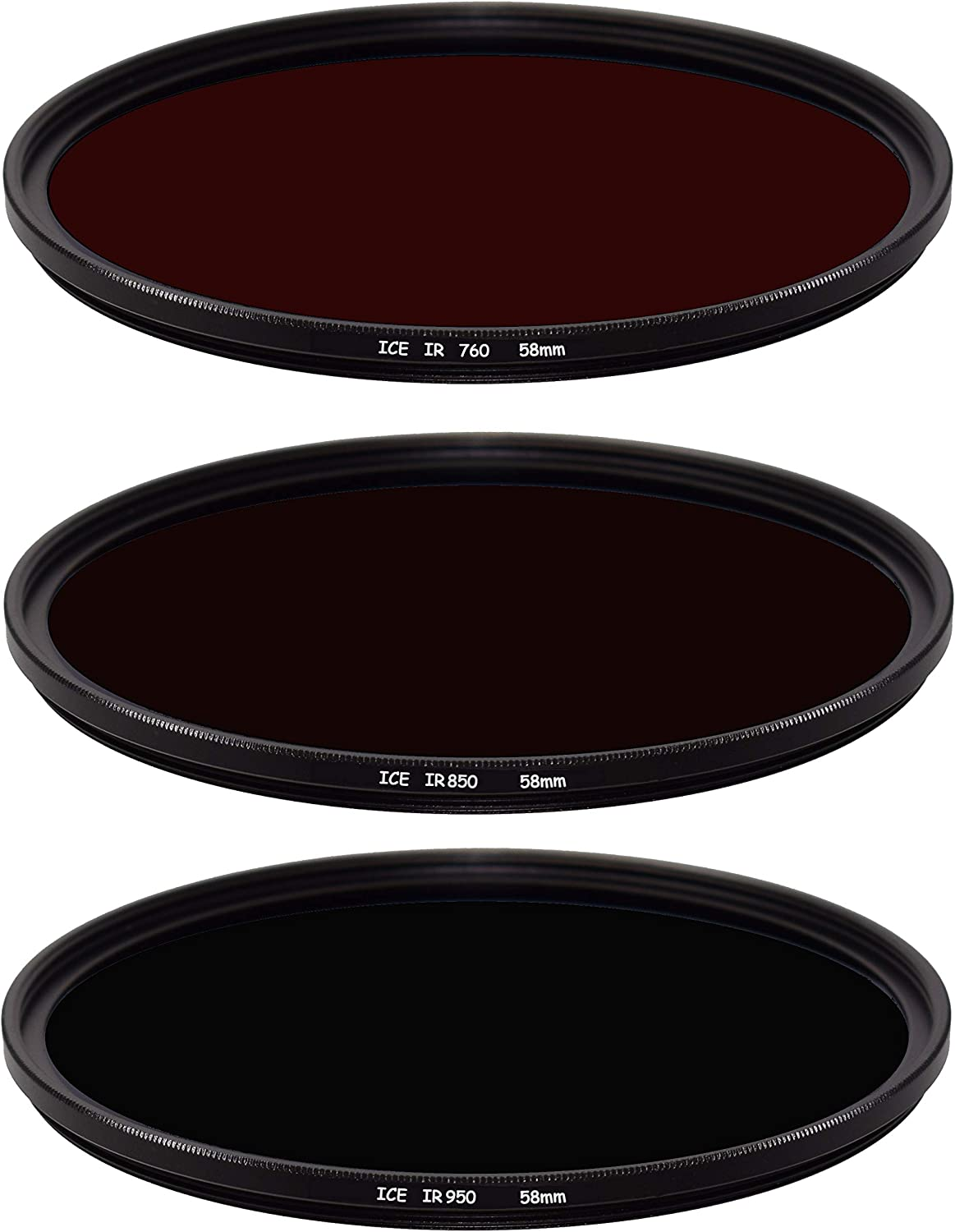 ICE Infrared 3 Filter Max 81% OFF Set 58mm IR S Glass 58 950 850 Limited price Optical 760