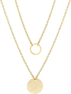 Best double chain pearl necklace Reviews
