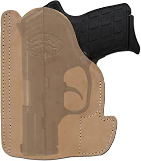 Barsony New Tan Leather Pocket Holster for Small .380 Ultra-Compact 9mm 40 45 Pistols