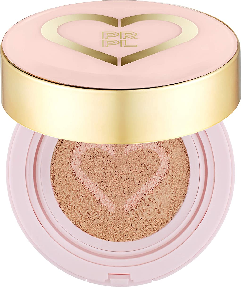 めまいが対自動車PRPL Heart Face Cushion - cover and glow cushion foundation, Korean make-up and skincare cosmetics (#21 Pure Ivory)