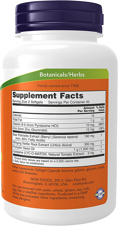 Now Foods Prostate Support 90 Softgels 90 Gélkapszula