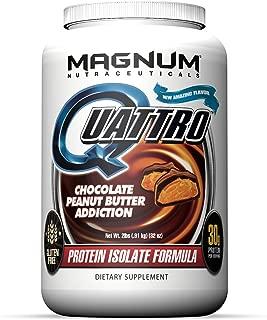 Magnum Nutraceuticals Quattro Protein Powder - 2lbs - Chocolate Peanut Butter Addiction - Pharmaceutical Grade Protein Isolate - Lactose Free - Gluten Free - Peanut Free
