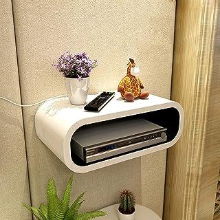 XUQIANG Soporte de Montaje en Pared Caja de TV Caja de Cable Módem decodificador for enrutador WiFi Reproductor de DVD Dispositivo de transmisión Plataforma de Montaje en Pared (Color : White)