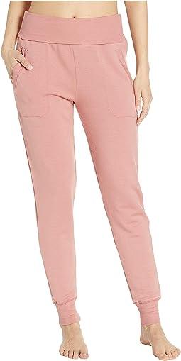 Fleece Fold-Over Sweatpants