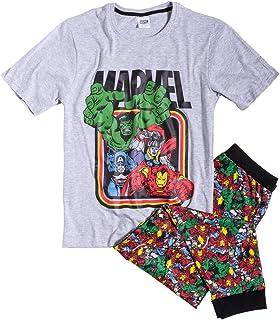 Mens Grey Marl Marvel Pyjamas