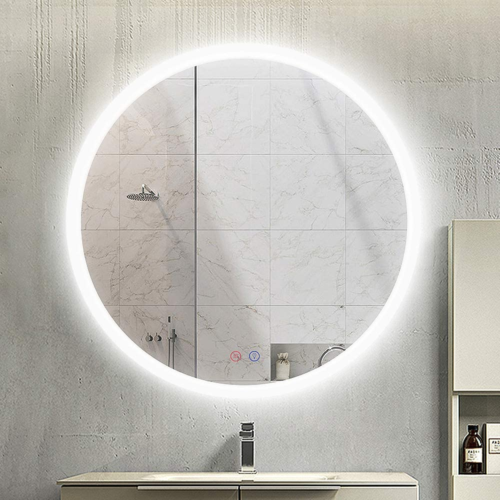 OKISS 28 inch Round Bathroom LED Vanity Mount Circle Mirror free Import shipping Wall