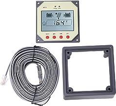 Medidor de carga solar, controlador de carregamento solar MT1, programável com display LCD de 4 botões Fácil de ler Lâmpad...
