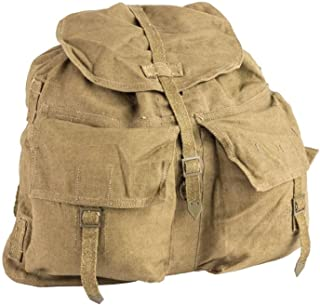 Original Czech army vintage backpack with Y straps suspenders M60 canvas daypack rucksack retro hiking buschraft NEW