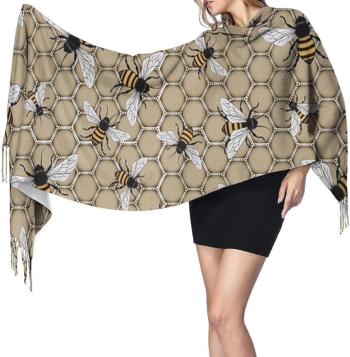 Summer Honeybee Women's Winter Warm Scarf Fashion Long Large Soft Cashmere Shawl Wrap Scarves