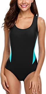 Sport One Piece Swimsuits Racerback Bathing Suits Athletic Swimwear