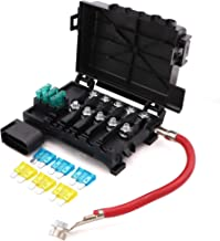 Battery Fuse Box Block Terminal 1J0937550 with 9pcs fuses compatible with 99-04 VW beetle Jetta Bora Golf MK4