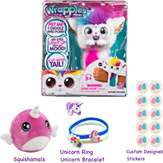 Simple Joy Little Live Wrapples with Squishamals (Season 2) Gift Bundle - UNA Wrapple