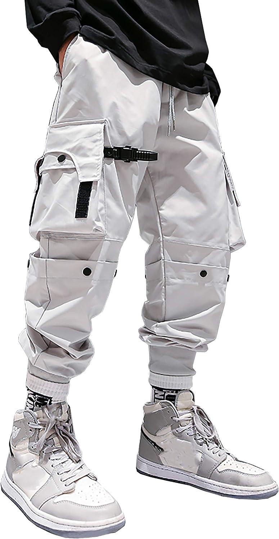 MOKEWEN Men's Women Casual Jogger Cargo Hiphop Techwear Cargo Jogger Ankle Pants