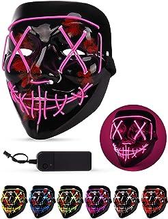 AnanBros Halloween Máscara, la Purga máscara LED, Máscara