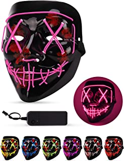 Sago Brothers Scary Halloween Mask, LED Light up Mask Cosplay, Glowing in The Dark Mask..
