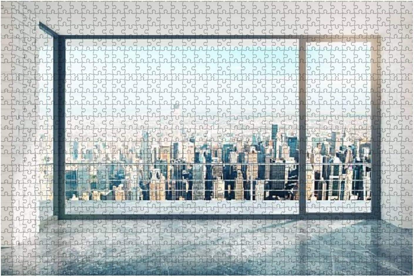 Empty loft Room Popular standard with Big Window Wooden Floor New sales in Jigsa Piece 1000
