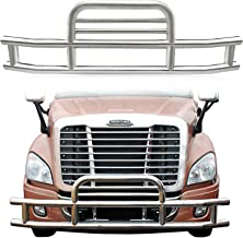 ORB Grille Guard for Freightliner Cascadia 2008-2017 Deer Bumper Guard Heavy Duty Steel Grill Brush Guard with Mounting Brackets