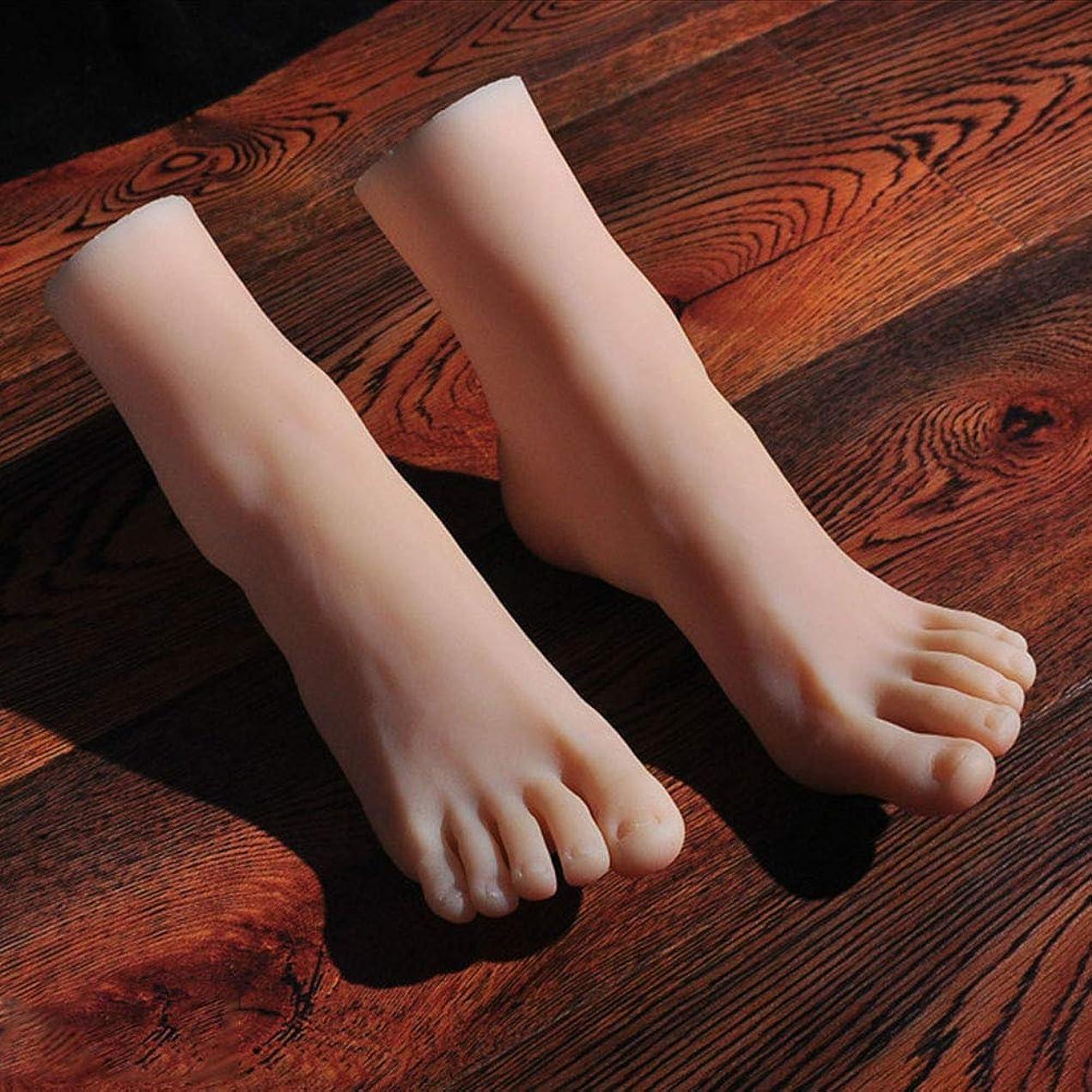 いつでも冗談で失望1ペアのLifeSizeシリコーン女性のマネキンフットディスプレイJewerlyサンダル靴ソックス表示アートスケッチ