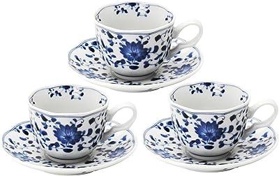 美濃焼 コーヒー碗皿 3客セット 菊唐草 797-59-36E(3)