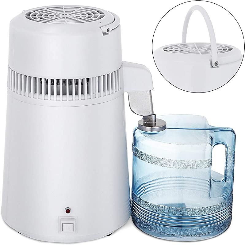 Mophorn Countertop Pure Water Distillation Purifier With Handle 4L 750W White