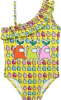 Girls Swimsuit One Piece Rainbow Kids Bathing Suits Toddlers Swimwear Size 100