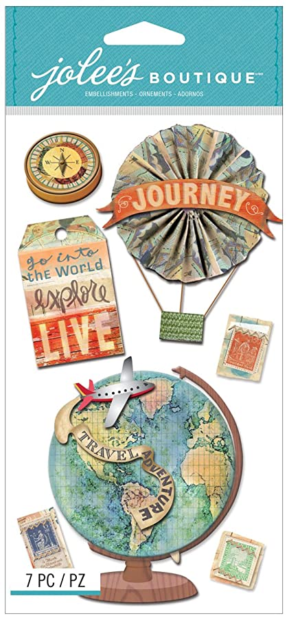 Jolee's Boutique Dimensional Stickers, Map Medallions