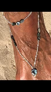 Abalone boho anklet with matching sexy Foot jewelry