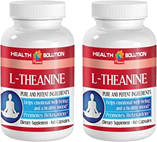 Enhancement All Natural - L-Theanine 200MG - Promotes Relaxation - Energy Booster Pills - 2 Bottles (120 Capsules)