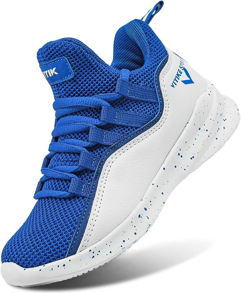 Ashion scarpe da ginnastica da basket sneakers per bambini/ragazzi in pelle sintetica e tessuto 805611H