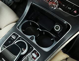 Accessoire de Voiture pour Lhd REFURBISHHOUSE Carbone Garniture de Couvercle de Support de Gobelet dans Chrome Abs pour Mercedes Une//Gla//Cla Classe C117 W117 W176 X156 2012-17
