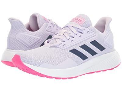 adidas Kids Duramo 9 (Little Kid/Big Kid) (Purple Tint/Tech Indigo/Shock Pink) Girl
