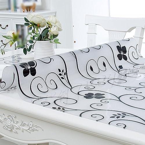 Tablecloth Wasserdicht, Anti-Heiß-  Anti-Fouling-, Kunststoff-Tisch-Matte Tee-Tisch, Grün, leicht zu reinigen PVC-Tischdecke, Dicke 1,0 mm (Größe   90  16cm)