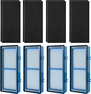 Funmit HAPF30AT Filter 4 Pack & Disposable Activated Carbon Pre-Filter 8 Pack Replacement for Holmes AER1 Series Total Air...