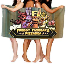 AGHRFH Five Nights at Freddy Fazbear's Pizza - Toalla de Playa (tamaño Grande, Supersuave, Absorbente de Agua, Multiusos, 78,7 x 137,1 cm)