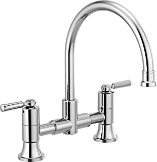 Delta Faucet P2923LF Westchester Bridge Kitchen Faucet Two Handle, Chrome