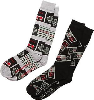 Nintendo mens Nintendo 2 Pack Crew Casual Sock
