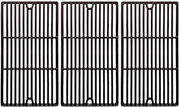 Replacement Porcelain Cast Iron Cooking Grids for Charbroil 466247512, Cuisinart, Kenmore 463268107, Tuscany CS784LP Gas Grill Models, Set of 3