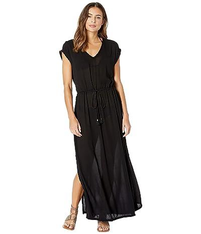 L*Space Noveau Dress Cover-Up (Black) Women