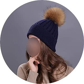 Pompom Beanies Solid Color Hat Lady Plain Warm Soft Skull Knitting Cap Hats Touca Gorro Caps
