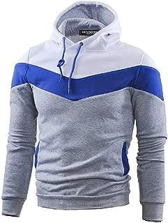 DENIMHOLIC Mens Slim Fit Long Sleeve Hoodie with Pocket