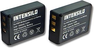 INTENSILO 2x Li-Ion batería 1600mAh (3.6V) para videocámara cámara de video Fujifilm Finepix SL300 SL305 por NP-85 CB170 PA3985.